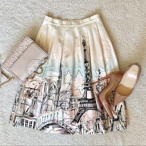 Elle Paris Skyline pastel colors Midi Skirt